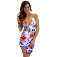 Flowered Party Summer Dress