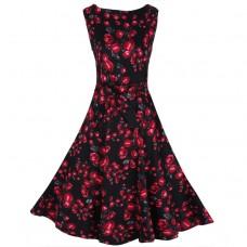 Print floral dress party