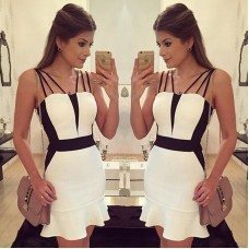 Casual white dress sleevess