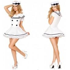 Sexy White Sailor Costume