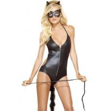 Black catsuit costume