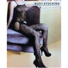 Black Cutout Nylon Stocking