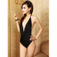 Black Halter Bikini Pattern Dress