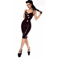 Lady Shinny Leather Club Dress