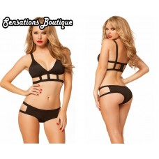 CAGE BRA AND PANTY SET