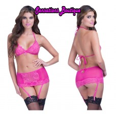 SOFT CUP BRA AND GARTER SKIRT